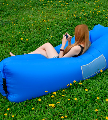 Review of BACKTURE Inflatable Lounger Air Sofa Lazy Carry Portable Waterproof Sleeping Bag