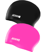 Aegend Durable Silicone Swim Caps for Long Hair