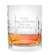Lucy G Silk Giftbox Personalised Whiskey Glass