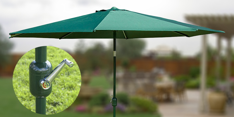 Alfresia Aluminium Round Wind up Garden Parasol Sun Shade Patio Outdoor Umbrella 2.5m in the use