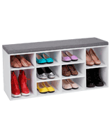 VASAGLE LHS10WT Shoe Bench Storage