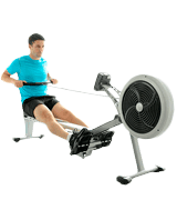 JTX Fitness Foldable Air Rower Foldable Superior Rowing Machine