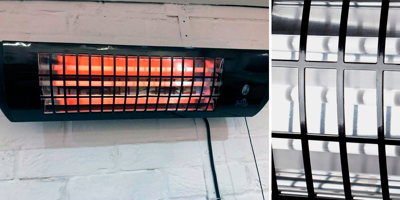 Firefly Wall Mounted Quartz Heater Wall Mounted Heater in the use
