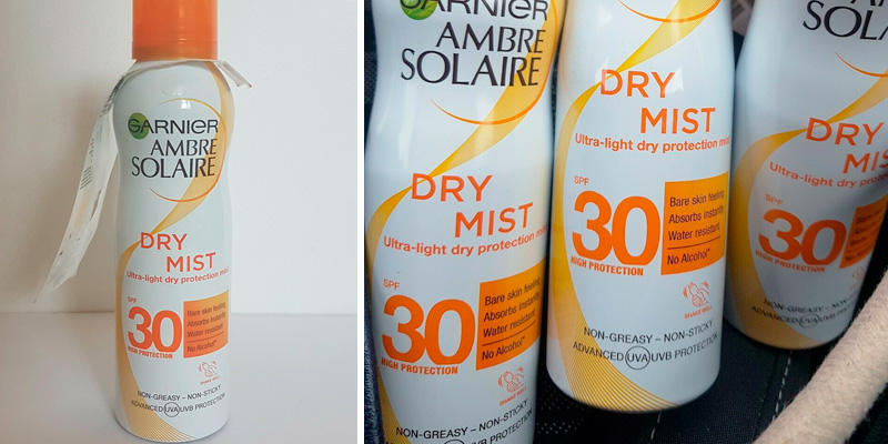 Review of Garnier __Ambre Solaire Dry Mist Sun Cream Spray SPF30