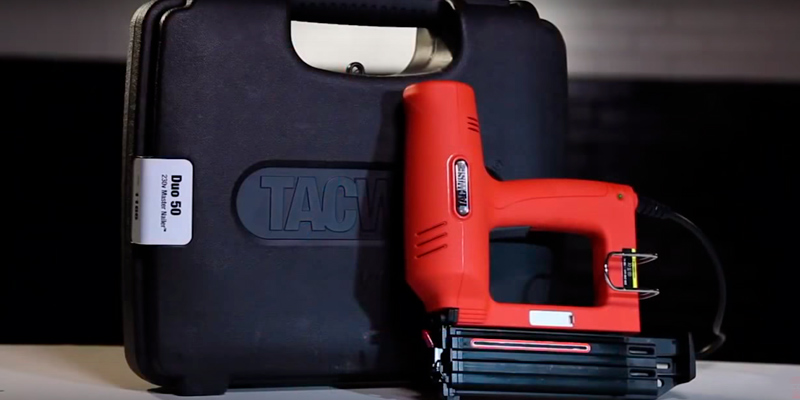 Tacwise Duo 50 Electric Staple/Nail Gun in the use