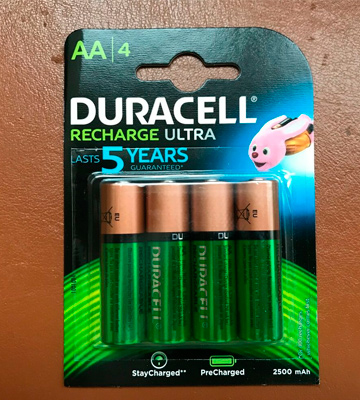 Review of Duracell HR6DX1500 Recharge Ultra Type AA Batteries 2500 mAh, Pack of 4