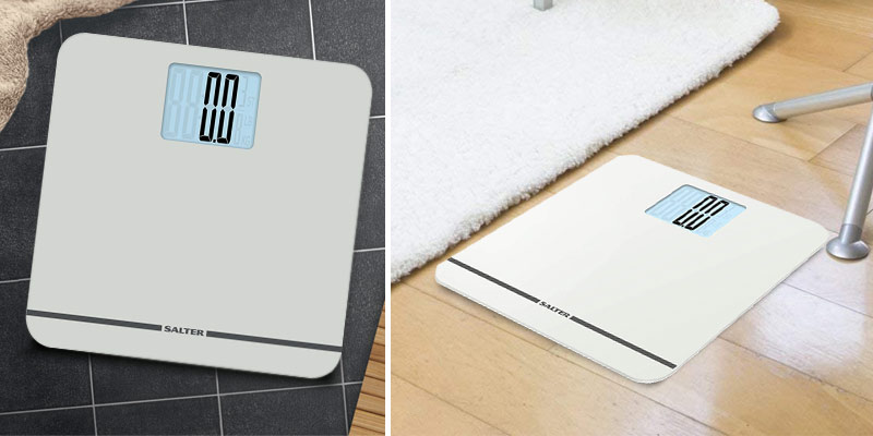 Salter MAX 250kg Capacity Electronic Bathroom Scale in the use