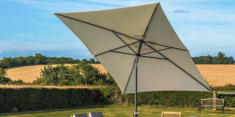 Review of ReaseJoy E-UMB-07-005-0001 3x2m Patio Parasol 6-Rib Aluminium Garden Umbrella Tilt Crank