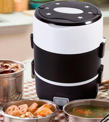 Review of GOTOTOP 3 Tier Electric Portable Lunch Heater Set Food Warmer