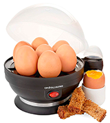 Andrew James EASY Egg Boiler Poacher Electric Cooker with Steamer Attachment