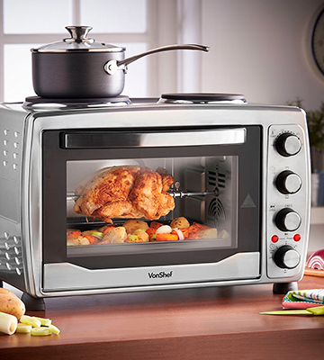 Review of VonShef 13/217 Mini Oven, Grill & Rotisserie with Double Hot Plates
