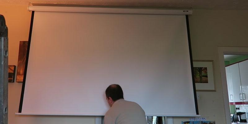 "Review of Jago BELE01 113"" Pull Down Projector Screen"