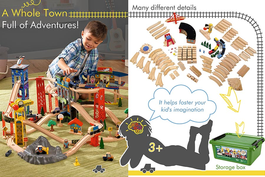 Comparison of Wooden Train Sets for Toddlers