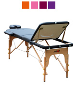 H-ROOT Black leather Lightweight Portable Massage Table