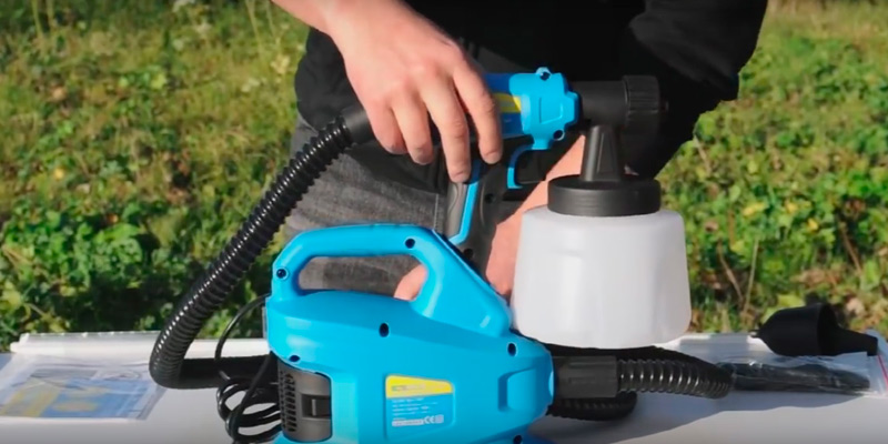 Sitemate SM700 HVLP Electric Fence Spray Gun Paint Sprayer in the use