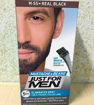 Review of Just For Men Real Black M55 Moustache and Beard Facial Hair Colouring Kit