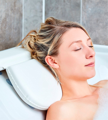 Review of Tranquil Beauty Luxury Bath Pillow For Head And Neck With 7 Suction Cups
