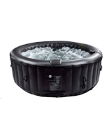 AllSeasonsGazebos Inflatable Hot Tub 4-6 Person, Black
