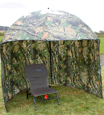 Review of Carp-Corner 183799 Fishing Tackle Brolly Umbrella System with Zip On sides In Camo