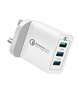 ULTRICS UT-0105-3PWC-WHI USB Wall Charger